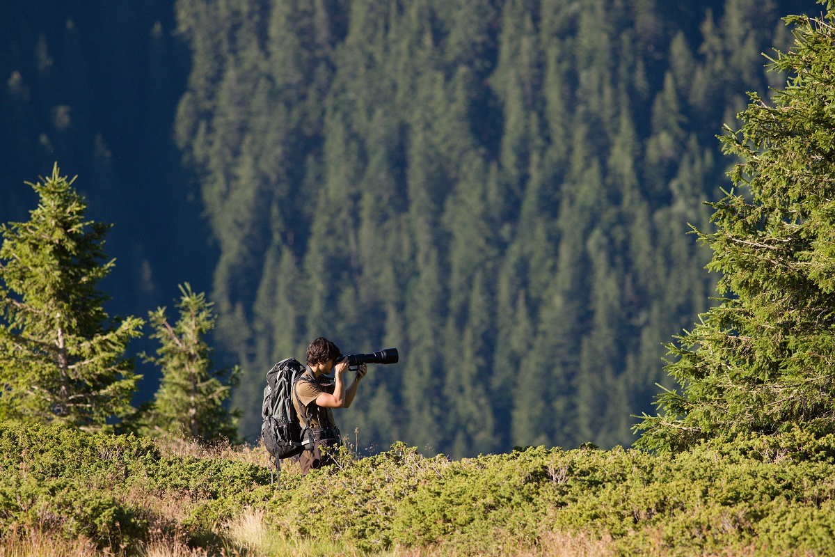 fotograf v akcii, Boia Mică, Munții Făgăraș, Romania Canon EOS 6D mark II, Canon 400 mm f5.6 L USM, f6.3, 1/1250, ISO 640, 10. august 2019