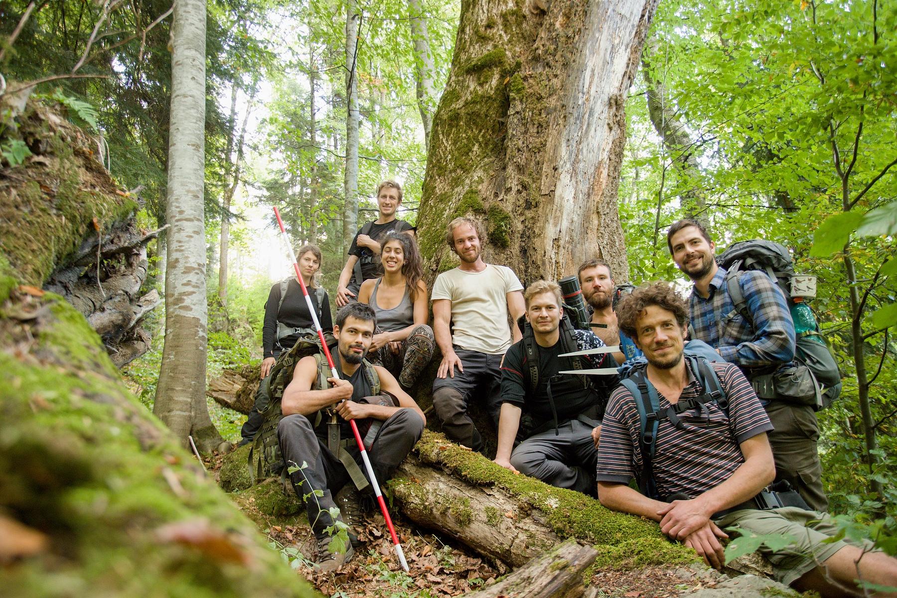 výskumný tím v pralese pohoria Maramureš, Paulic valley, Munții Maramureșului, Romania Canon EOS 6d mark II + Canon 17-40mm, 24mm, 1/20, f4, ISO 2000, 25. september 2020